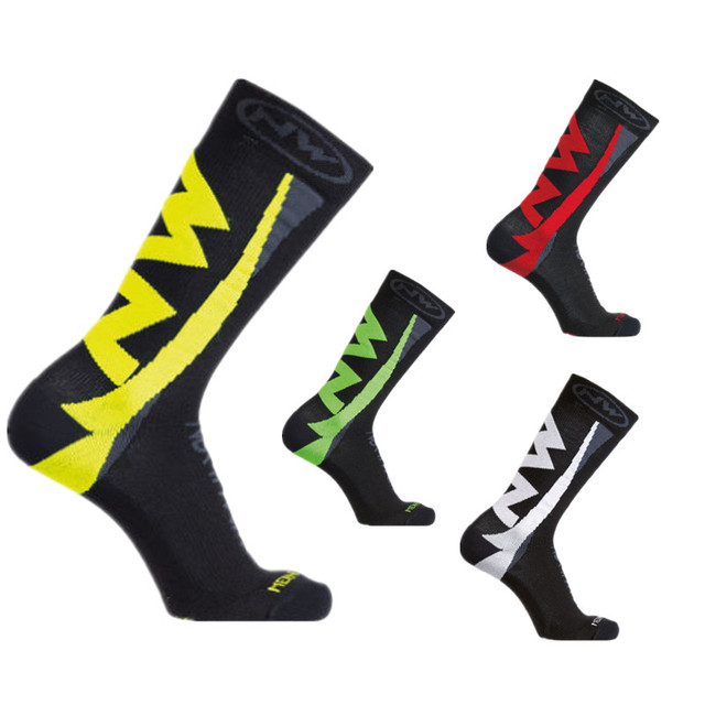 Nw 5 estilo pro equipe ciclismo meias men verão inverno calcetines ciclismo compressão mountain racing bicicleta meias 4