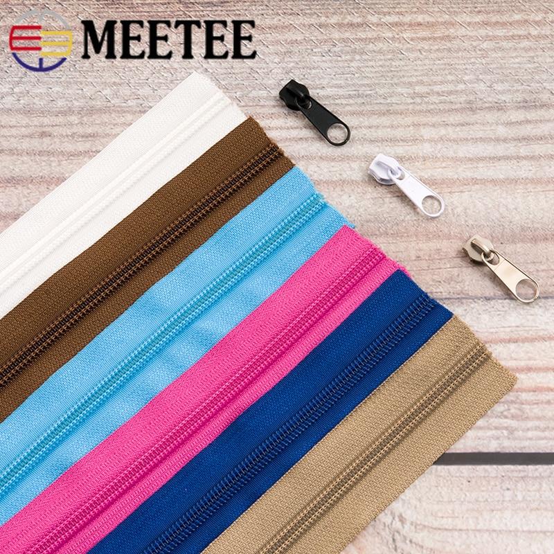 Encontro 5 #5/10 metros Nylon Com Zíper + Puxar Sliders para Home Textile Vestuário Bagagem Sacos de Quilt Cover zip Costura Acessórios AP672