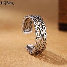 925 Sterling Silver Thai Silver Open Rings Women Jewelry Gif