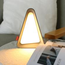 Night triangle light USB rechargeable investment Dimmable Sensor LED lights table indoor lighting Bedside reading lamp 1pc rechargeable led light under table base led light lamp for furniture wedding table lighting home party decoration lights