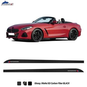 Autocollant de jupe de Performance M, à rayures latérales de la porte de voiture, autocollant, pour BMW Z4 G29 2019 2020 E85 E86 E89, accessoires à la période 2002