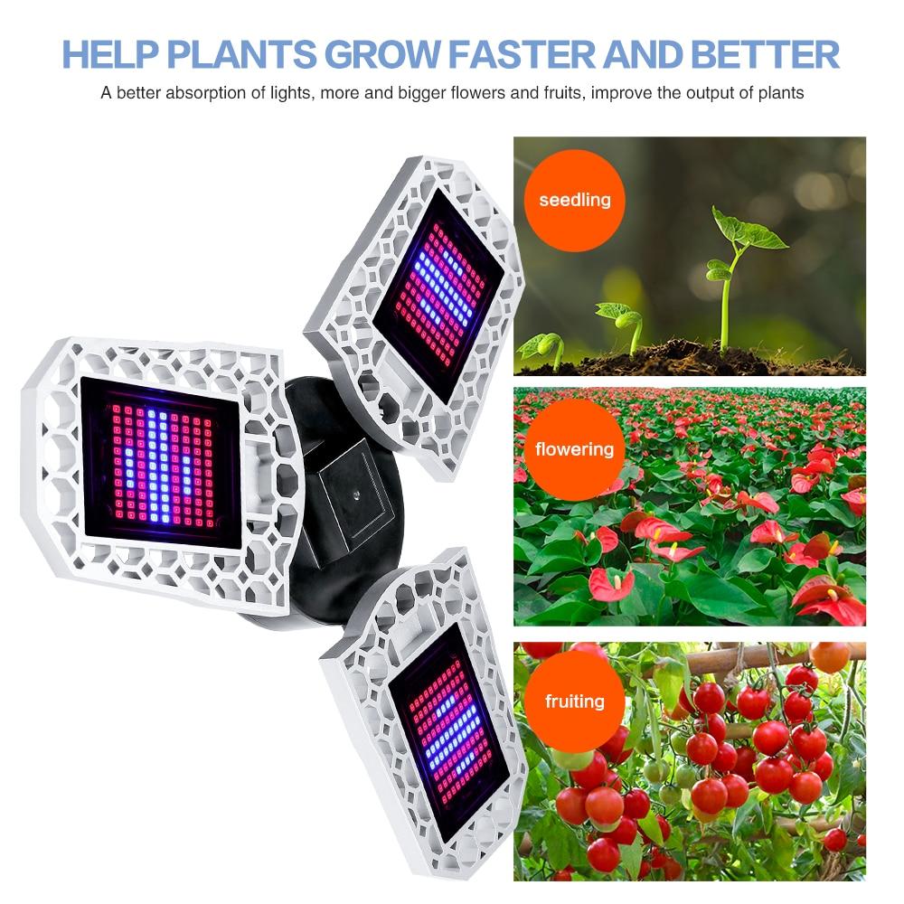 UFO Led Grow Light Bulb E27 100W 200W 300W Full Spectrum 220V IR UV Lamp Plant Flower Seedling Grow Tent Hydroponic Growth Light