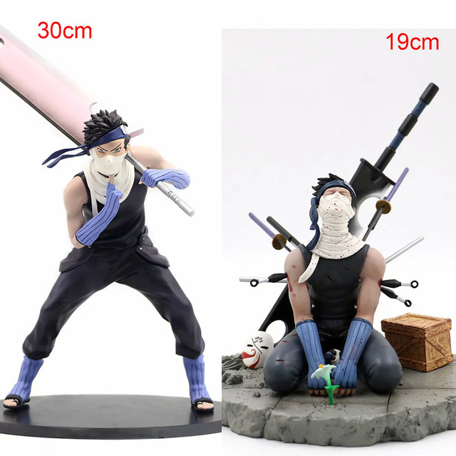 30cm 나루토 액션 피규어 Momochi Zabuza PVC 일본 애니메이션 나루토 Collectible Model Toys 데스크탑 장식