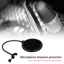 Bilayer Microphone Pop Filter Spray Windscreen Mesh Guard for Broadcast Record for Speaking Recording Accessories