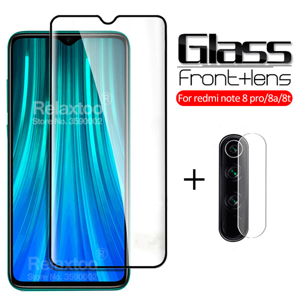 2-in-1 Camera Protective Glass For xiaomi redmi note 8 pro Glass Xiomi Redmi Note 8T 8A 8 T A A8 T8 note8t not 8pro Safety glass(China)