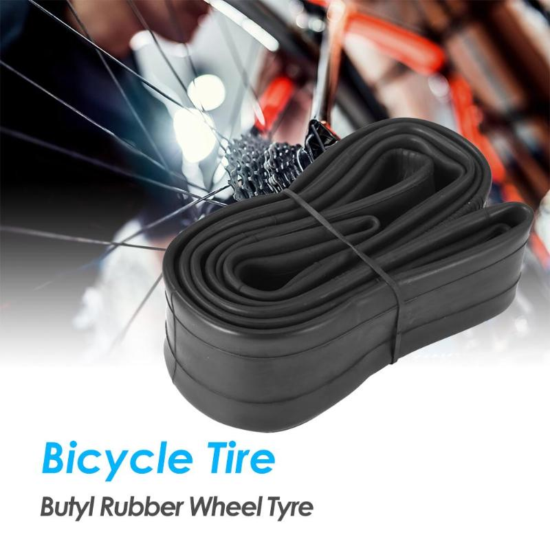 20/<font><b>24</b></font>/26 x 1.75/<font><b>1.95</b></font> Road Bike Durable Inner Tube French Valve Bicycle Tire Cycling Butyl Rubber Wheel Tyre image