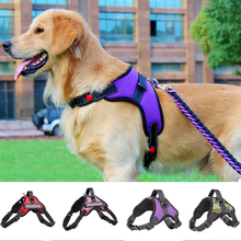 Nylon K9 Dog Harness Vest Collar Personalized and Leash Set Reflective 3m Material  for Small Medium Large