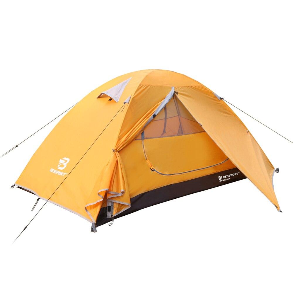 Bessport палатка для 1 2 человек сверхлегкая кемпинга водонепроницаемая