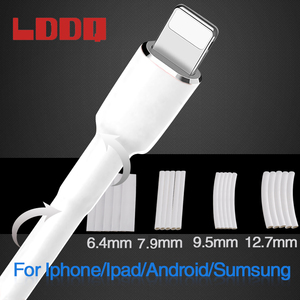 LDDQ 20Pcs White 3:1 Heat Shrink Tubing waterproof protect Wrap Wire For iPhone For iPad For Samsung For Android Data Line