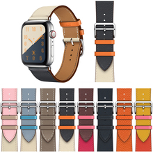High Quality Genuine Leather Single Tour Bands for Apple Watch Series 5, iwatch 3 Band Replacement  Strap 4 44mm