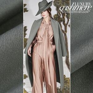 Image 2 - 150cm duplo face cor lã cashmere tecido casaco de inverno casaco grosso tecido de lã de caxemira por atacado pano de caxemira