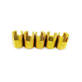Self Tapping inserts M2 M2.5 M3 M4 M5 M6 M8 M10 M12 M14 Carbon Steel threaded insert thread repair kit Nut Repair helicoil free shipping carbide thread end mills 4f m3 m4 m5 m6 m8 m10 m12 m14 thread mills thread milling cutter with tialn coating