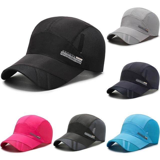 Quick-Dry-Mesh-Pure-Color-Light-Board-Men-s-Baseball-Cap-6-Color-Optional-Bone-Cap