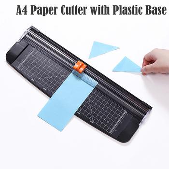 Precyzyjne przycinarka do papieru przycinarka do zdjęć papieru przenośny notatnik trymer Cutter Home Office A4 papierowa maszyna tnąca z podstawa z tworzywa sztucznego tanie i dobre opinie Plastic G256564