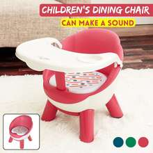 Dining-Chair Children's Table Plastic with Plate Baby Eating Back-Call Stool
