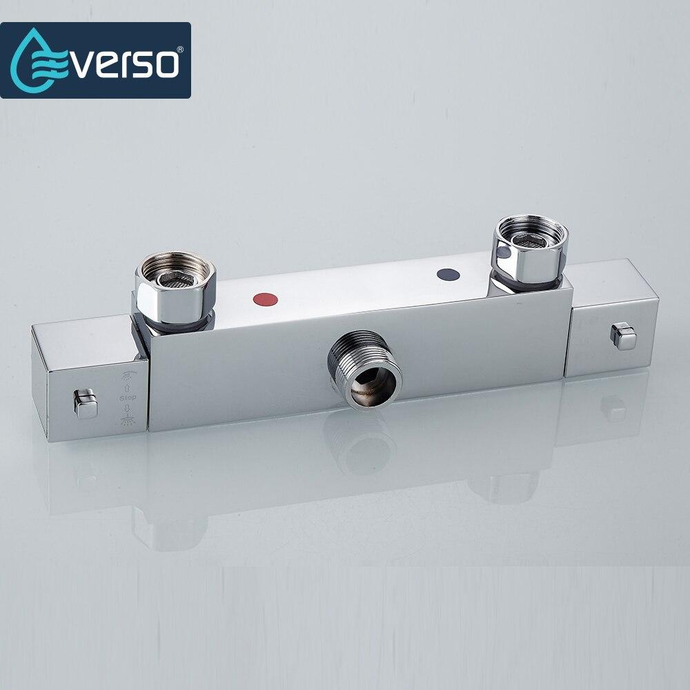 EVERSO Thermostat Misch Ventil Badezimmer Dusche Set Thermostat Control Dusche Wasserhahn Dusche Mischer