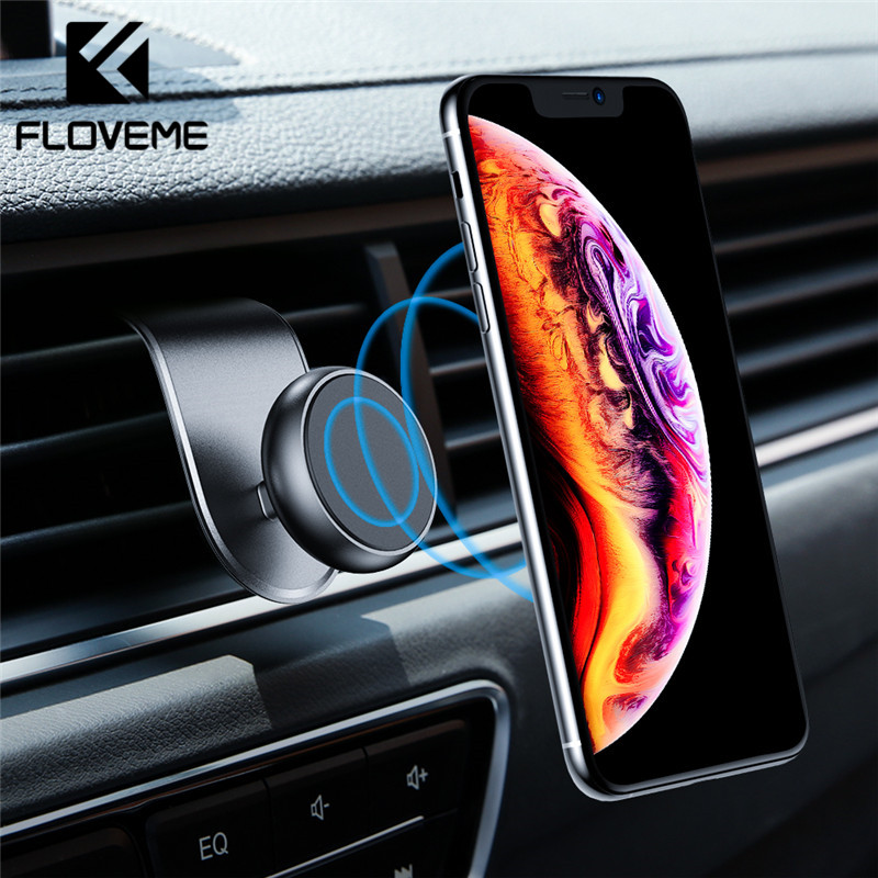 FLOVEME Upgrade Magnetic Car Phone Holder For Phone In Car Air Vent Mount Clip Magnet Phone Holder For IPhone 11 Samsung Suporte