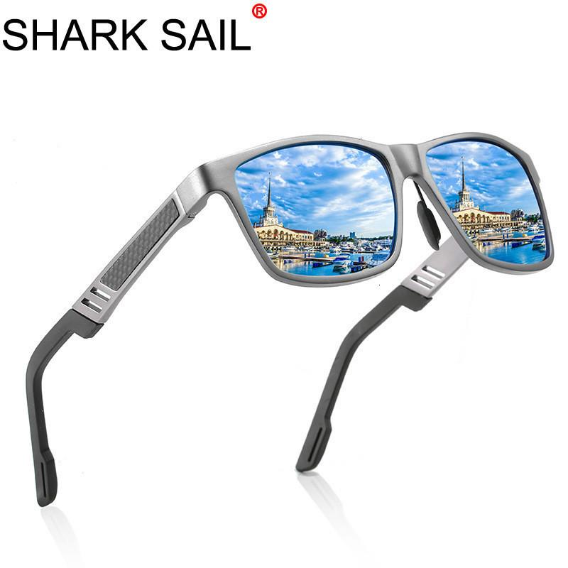 SHARK SAIL Hot Ray Anti Male Sunglasses Female Sun Men Drive UV400 Anti-Reflective Photochromic Mirror Polarized Square Glasses