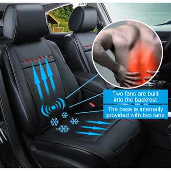 12V DC Car Breathable Multi-function massage Waist Warmers Heating & Cooling Seat Car Massager Electric Heated Seats Cushion