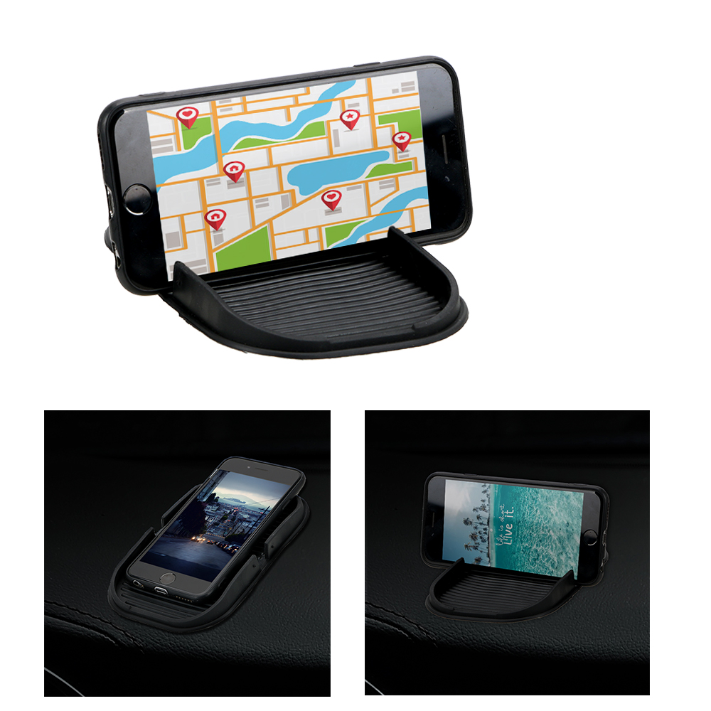 LEEPEE Multifunction Car Dashboard Cell Phone Holder GPS Display Bracket Storage Mat Interior Accessories Universal