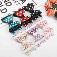 1 Pcs Star Fish Scale Pattern Girl Bow Hairpin Baby Kids Hair Accessories Gifts Clips Headware Bow Headdress Hot Sale Hair Claws