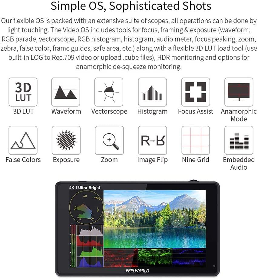 FEELWORLD LUT6S 6-inčni terenski monitor kamere 2600nits HDR / 3D - Kamera i foto - Foto 2