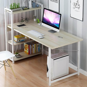 Wooden Computer Desk Office Desk Modern Writing Table Universal Laptop Stand Home Office Furniture PC Workstation Study Table 1