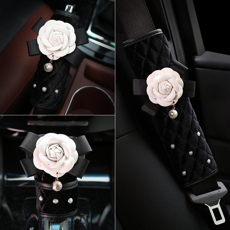Creative-Pearl-Camellia-Flower-Car-Safety-Seat-Belt-Cover-Auto-Shoulder-Pad-SeatsBelt-Protector-Car-11