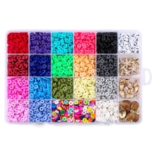 DIY Necklaces Bracelets Earring Craft Set Color 24Grids Color Beads Beautiful Handwork Gifts Starfish Shell Pendants Kit