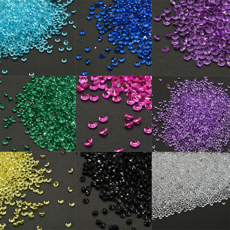 1000pcs Colorful 4.5mm Decor Crafts Clear Crystals Rhinestone Diamond Table Scatters Events Party Festive Wedding Decor @