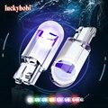 2pcs W5W 194 T10 Glass Housing Cob LED Car Bulb 3000K 6000K 7 Colors Wedge License Plate Lamp Dome Indicator Reading Light White