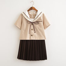 цена на School uniform set Student uniform tie Sailor suit set Table costume Japanese school uniform Girl Summer