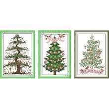 The christmas tree cross stitch kit sale print fabric embroidery