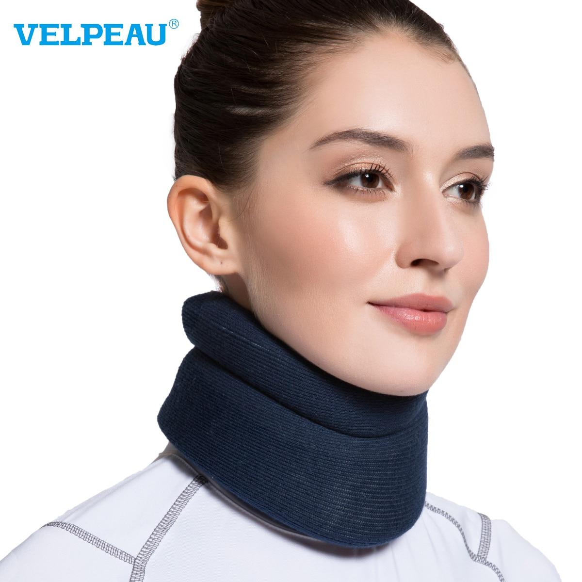Шейный бандаж VELPEAU для мигрени из-за проблем с шейным позвоночником шейный воротник для декомпрессии шейного отдела с заменяемой крышкой