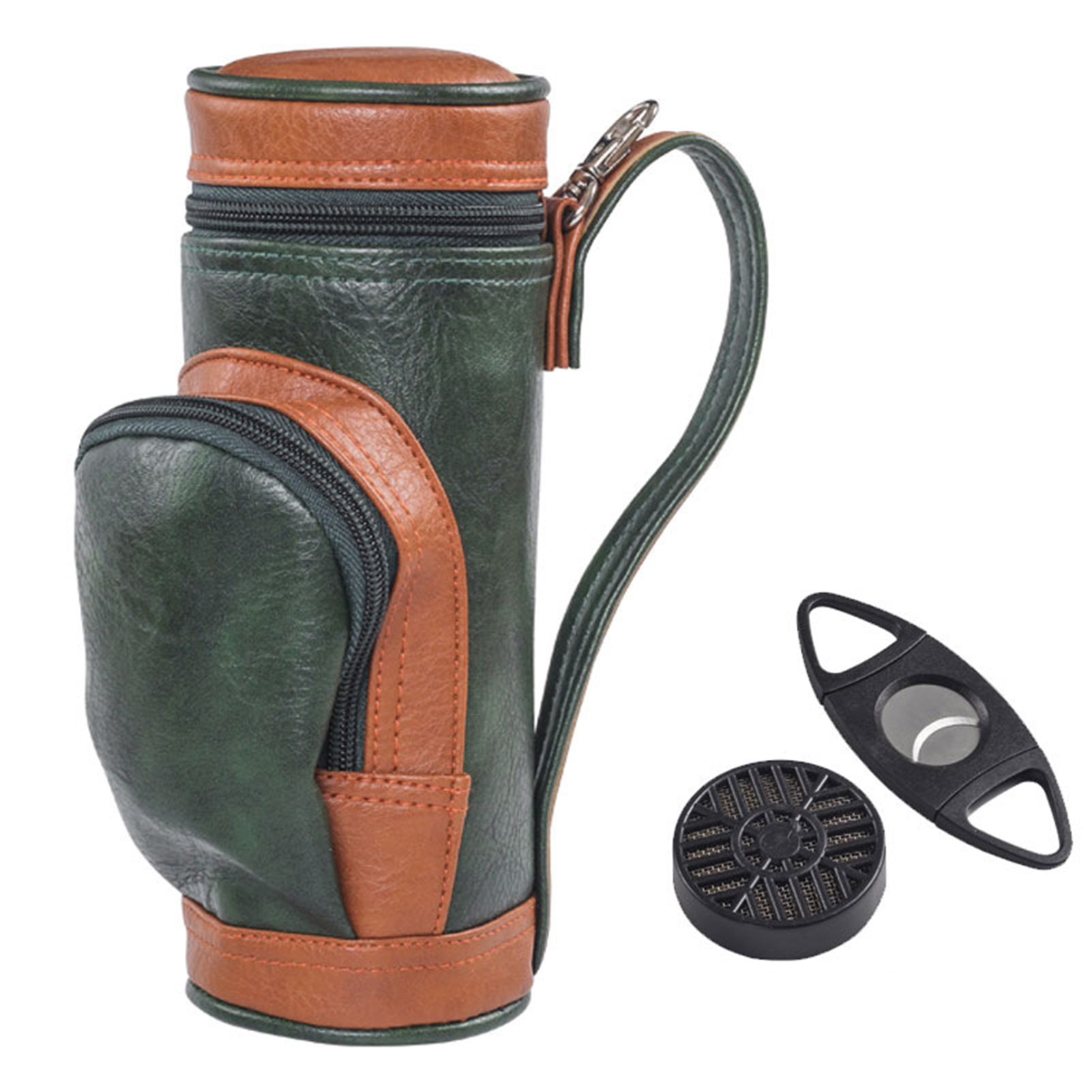 Multifunctional Functional Golf Cigar Bag Portable Cigar Case Holder With Cigar Cutter Suitable For Family Travel Camping Bags 1