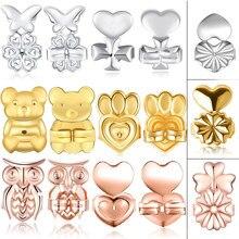 3 пары роскошных сережек, подтяжки сердца, надежно поддерживают подтяжки, гипоаллергенные Серебристые серьги-бабочки, совы, короны