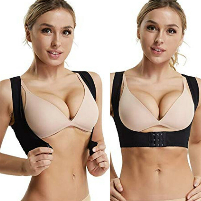 Body Shaper Posture Corrector Spine Bra Belt Back Breast Support Correct Brace For Women 3FS
