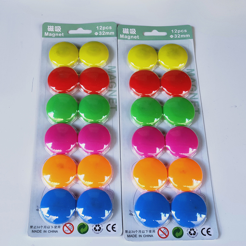 Tablón de anuncios de corcho de 12 colores, tachuelas magnéticas para pulgar Kawai, tachuelas para pizarra blanca, para nevera