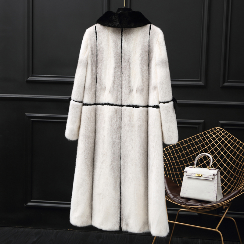Fur Mink Real Coat Female Natural Full Pelt Fur Coats Winter Jacket Women Luxury Long Jackets For Women Clothes 2020 MY S S