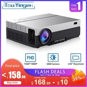 Image 1 - Touyinger t26l t26k 1080p led completo hd projetor vídeo beamer 5800 lúmen fhd 3d cinema em casa hdmi (android 9.0 wifi opcional)