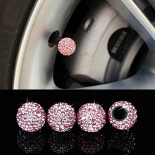 4Piece/set Diamond Styling Auto Accessories Car Wheel Tire Valve Caps Case for honda benz BMW ford Chevrolet Volkswagen Hyundai(China)