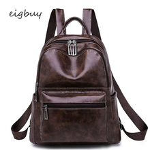 Casual Large Capacity Vintage Shoulder Bags Women Backpack Leather Daypack Fashion Backpacks Female Mochila Feminine