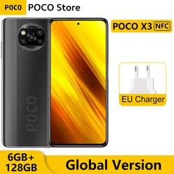 Глобальная версия Xiaomi POCO X3 NFC 6 ГБ 128 Гб Смартфон Snapdragon 732 Octa Core 6,67 дюймPocophone 64-мегапиксельная четырехъядерная камера 5160 мАч батарея