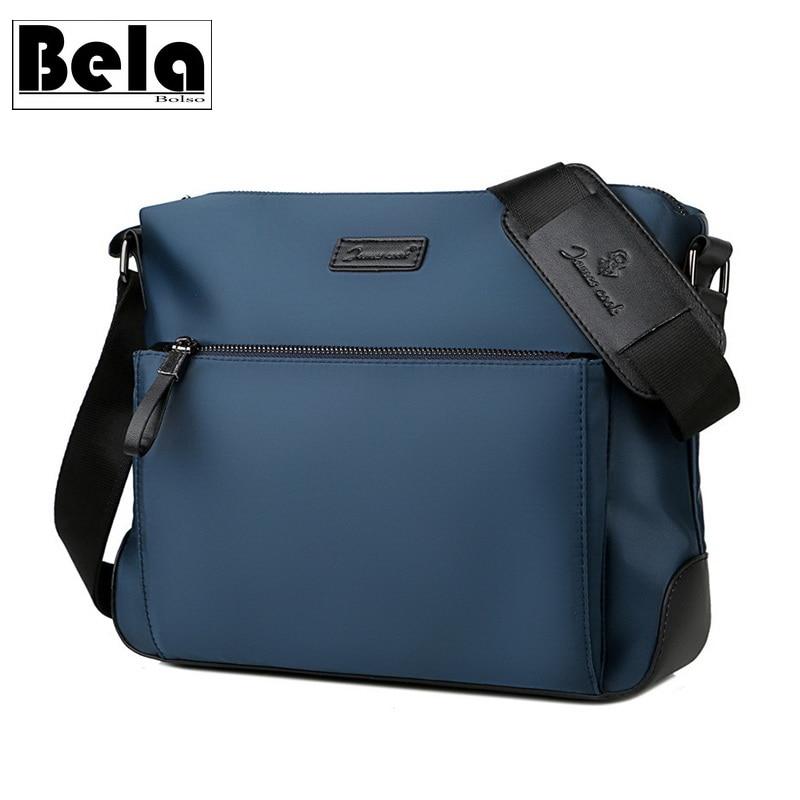 BelaBolso Large Capacity Messenger Bag Men Bag Oxford Shoulder Bag Classic Crossbody Bag For Men Business Bag Male Casual HMB672