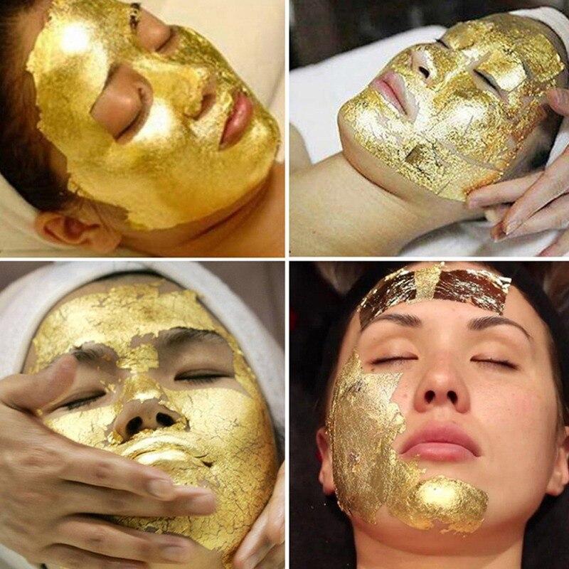 10PCS/lot 24K Gold Leaf Edible Gold Foil Sheets For Cake Decoration Facial Mask Arts Crafts Paper Home Real Gold Foil Gilding