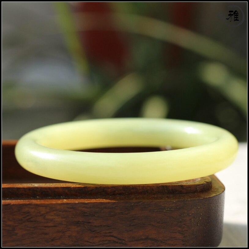Qinghai huangkou matériau couleur zhenghetianyu diamètre intérieur 55mm 60mm mince rond étroit anneau bouche bracelet yu bracelet