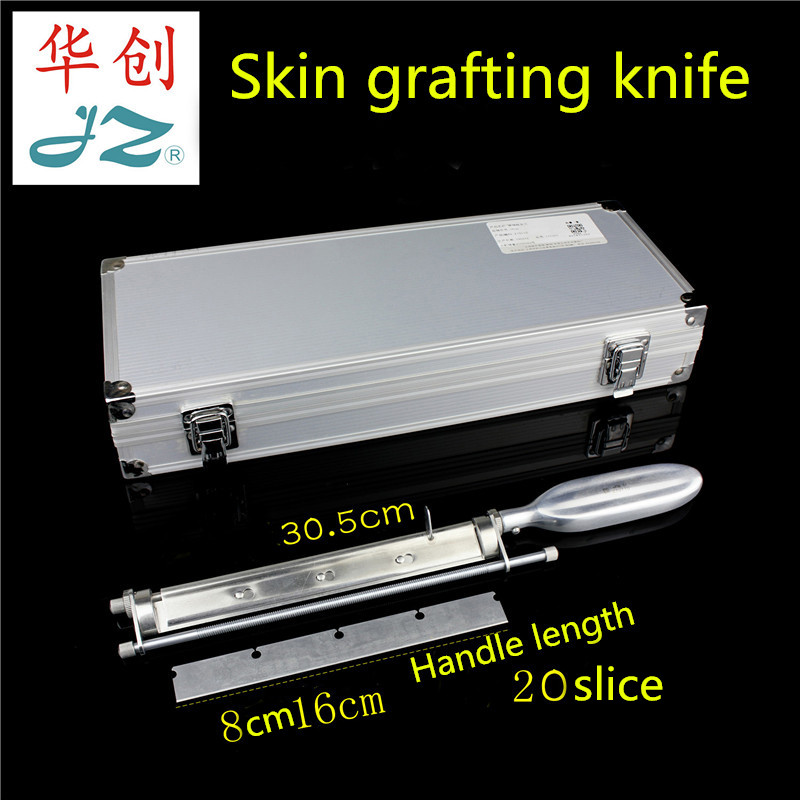 JZ Operation Instrument Medical Roller Shaft Skin-taking Knife Skin-grafting Blade Rack Burn Plastic Surgery Skin Graft Roller