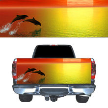 SUNSET DOLPHINS Car Decal Waterproof Decor Sticker rear door(China)