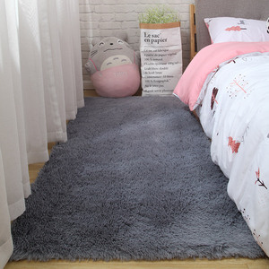 Long-haired bedroom front rug room decoration blanket living carpet Nordic coffee table mat thickening soft skin-friendly carpet