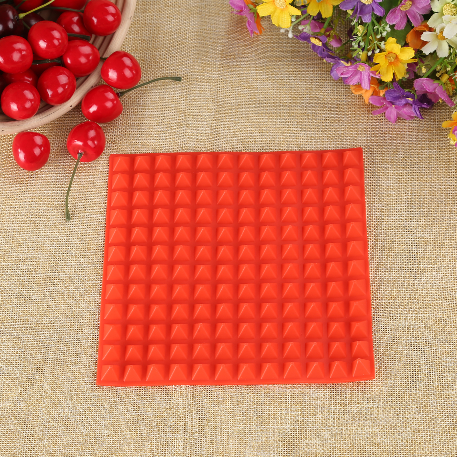 3 Colors Silicone Baking Mat In Non Toxic And High Temperature Resistance For Chocolate And Jelly Pudding 14